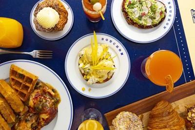 Johnny C's Diner, food spread