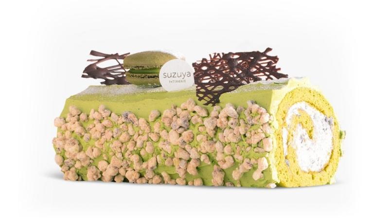 green tea roll log
