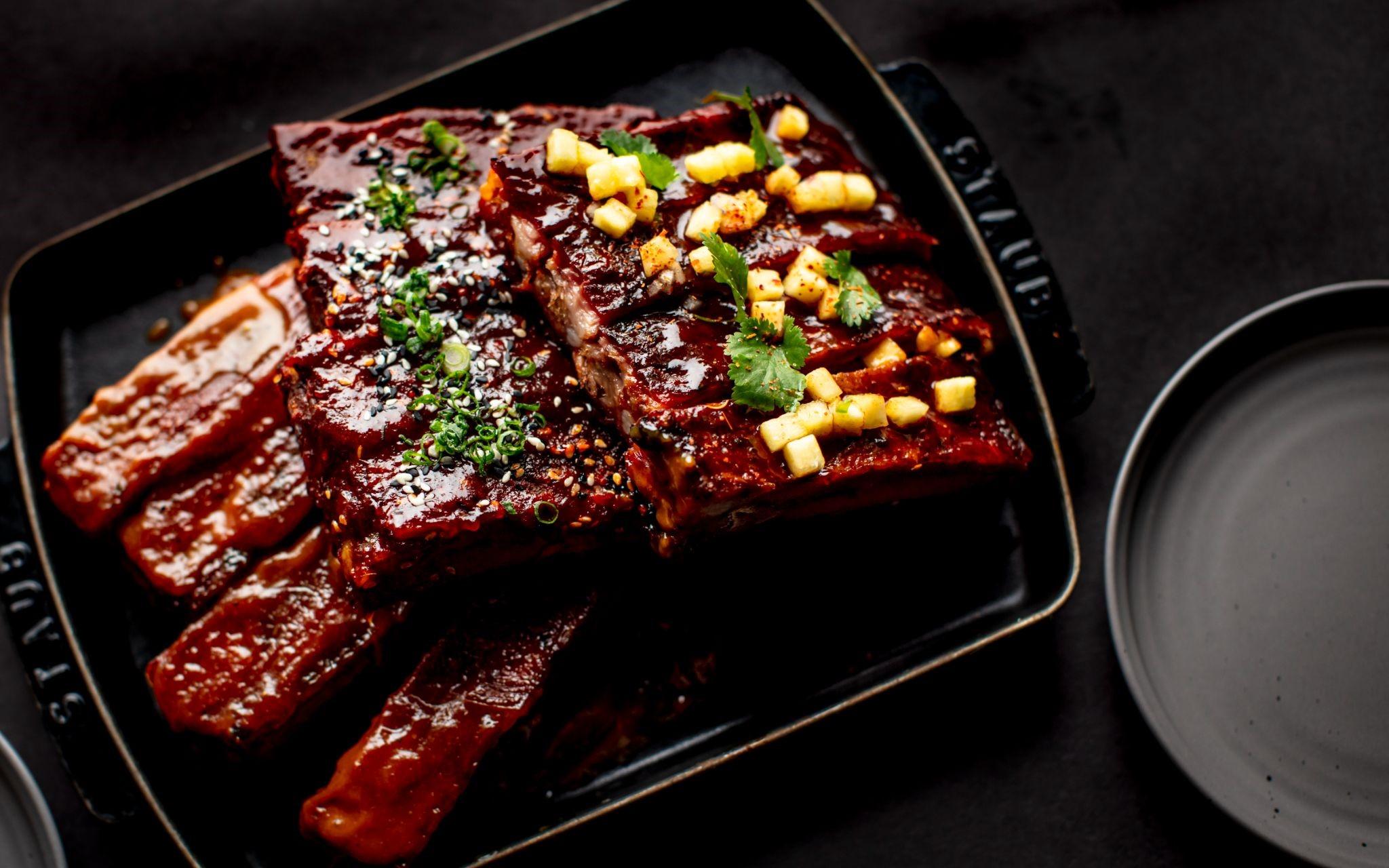 plate of ribs at Internaional Smoke